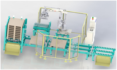 Automatic pallet feeding system